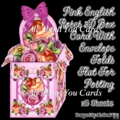 Pink English Roses 3D Box Card Kit