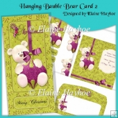 Hanging Bauble Bear dl Card 2
