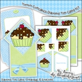 Yummy Cupcake Diamond Top Card Download