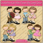 Snicklefritz Kids With Flowers Graphic Collection - REF - CS