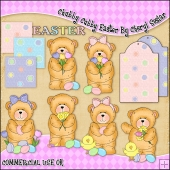 Chubby Cubby Easter ClipArt Graphic Collection