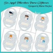 Six Angel Pillowbox Purse Giftboxes