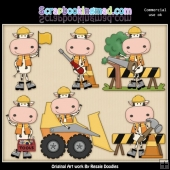 Construction Cows Clipart Graphics Download