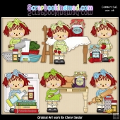 Annie Little Kitchen ClipArt Graphic Collection