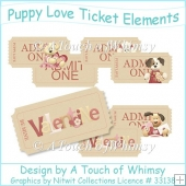 Puppy Love Ticket Elements
