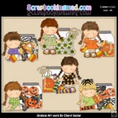 Agnus Halloween Jars ClipArt Collection