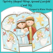 Nativity Shaped Wrap Around Gatefold Card Kit