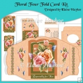 Floral Four Fold Card Kit