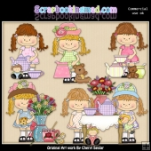 Happy Lulu Tea Party ClipArt Collection