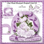 Lilac Rose Bouquet Shaped Card Kit