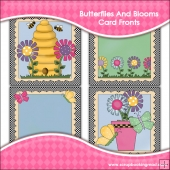 Butterflies And Blooms Card Fronts