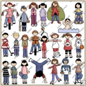 All In A Kids Day ClipArt Graphic Collection