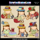 Agnus Is Sew Happy ClipArt Collection