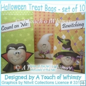 Halloween Treat Bags - set of 10