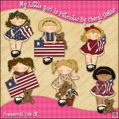 My Little Girl Is Patriotic ClipArt Graphic Collection