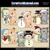 Tuff And Tiger Love Winter ClipArt Collection