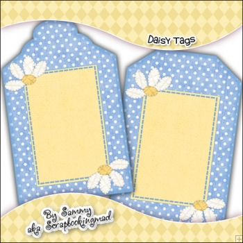 Daisy Gift Tags - Ref T700 & Ref T701