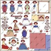 Raggedy Ann ClipArt Graphic Collection
