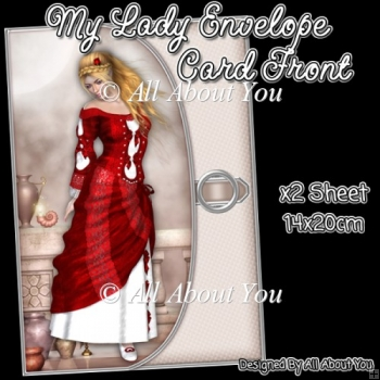 My Lady Envelope Card Front