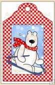 Skiing Polar Bear Gift Tag - REF_T621