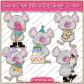 Sweet Treat Mouse ClipArt Graphic Collection - REF - CS