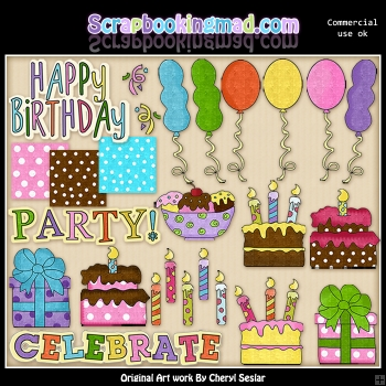 Celebrate Big ClipArt Collection