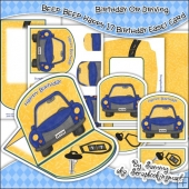 Beep Beep Birthday Or Driving Easel Card Download