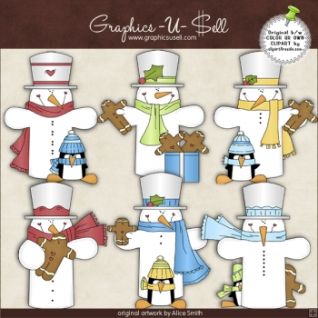 Snowbuddies 1 ClipArt Graphic Collection