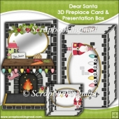 Dear Santa 3D Fireplace Card & Presentation Box