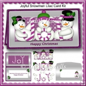 Joyful Snowmen Lilac Card Kit