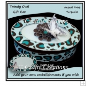 Trendy Oval Gift Box - Turquoise