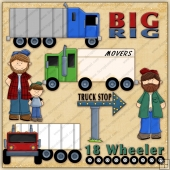 Big Rig ClipArt Graphic Collection