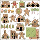 Gingerbread Lane 2 ClipArt Graphic Collection