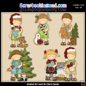 Maggie And Mikey Christmas Time ClipArt Collection