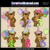 Babs Birthday Numbers ClipArt Graphic Collection