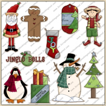 Christmas Holiday 2 ClipArt Graphic Collection