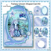 Fantasy Unicorn Shaped Card Kit