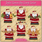 Joyful Santa's Graphic Collection - REF - CS