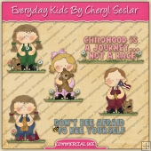 Everyday Kids ClipArt Graphic Collection - REF - CS