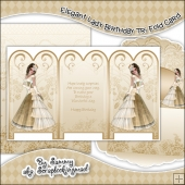 Elegant Lady Tri Fold Card & Envelope