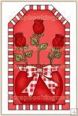 Red Valentine Tag - REF_T318