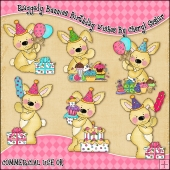 Raggedy Bunnies Birthday Wishes ClipArt Graphic Collection