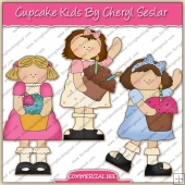 Cupcake Girls ClipArt Graphic Collection - REF - CS