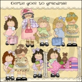 Gertie Goes To Grandmas ClipArt Graphic Collection
