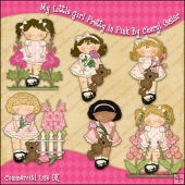 My Little Girl Pretty In Pink ClipArt Graphic Collection