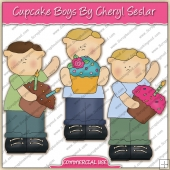 Cupcake Boys ClipArt Graphic Collection - REF - CS