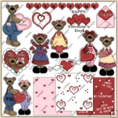 Valentines Bears ClipArt Graphic Collection