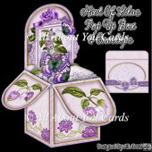 Hint Of Lilac Pop Up Box Card & Envelope