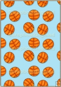 A4 Backing Papers Single - Blue Basketball - REF_BP_161