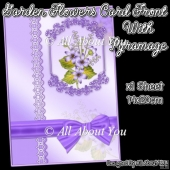 Lilac Garden Flowers Card Front